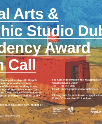 Fingal Arts Residency Award in partnership with Graphic Studio Dublin - Open Call 2018