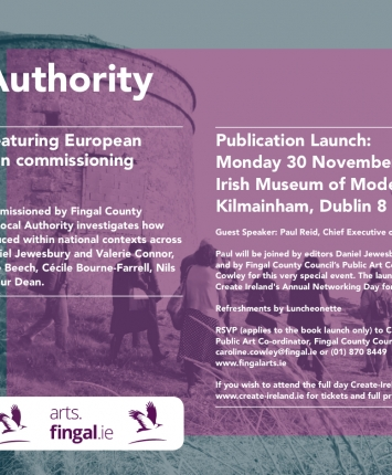 Book Launch - Local Authority, European Perspectives on commissioning Public Art